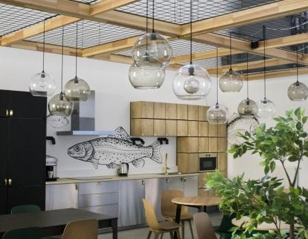 Ipari épület étkezőtere