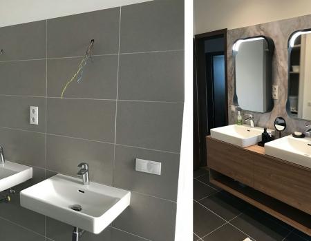 Egy újépítésű társasház fürdőjének újragondolása